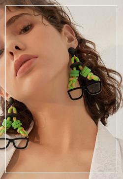 [수입] 머스트글라스 끈 귀걸이 악세사리쇼핑몰 체인목걸이 이어커프 명품귀걸이 명품스타일