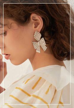 [수입] 맥시멀리즘 큐빅 귀걸이 악세사리쇼핑몰 체인목걸이 이어커프 명품귀걸이 명품스타일