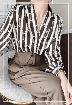 [수입] 볼륨 브라우니 셔츠 30대여성쇼핑몰 결혼식하객패션 하객원피스 수입여성의류 원피스쇼핑몰 연예인원피스