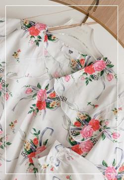 [수입] 나탈리 플라워카라 셔츠 30대여성쇼핑몰 결혼식하객패션 하객원피스 수입여성의류 원피스쇼핑몰 연예인원피스
