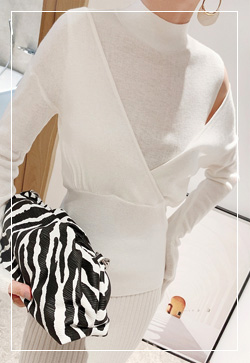 [수입] 미닛숄더 울폴라 니트 탑 30대여성쇼핑몰 결혼식하객패션 하객원피스 수입여성의류 원피스쇼핑몰 연예인원피스