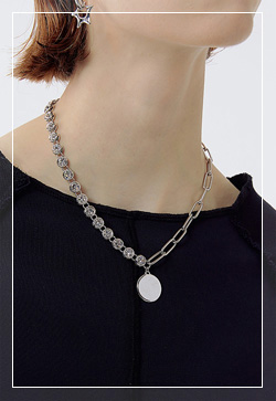 [수입] 에띠실버 하프체인 목걸이 악세사리쇼핑몰 체인목걸이 이어커프 명품귀걸이 명품스타일