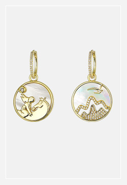 [수입] 풍경써클 동그라미 귀걸이 악세사리쇼핑몰 체인목걸이 이어커프 명품귀걸이 명품스타일