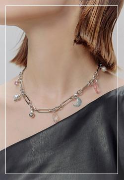 [수입] 보석 아이스체인 목걸이 악세사리쇼핑몰 체인목걸이 이어커프 명품귀걸이 명품스타일