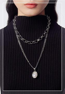 [수입] 레이어드 콜라보 체인 목걸이 악세사리쇼핑몰 체인목걸이 이어커프 명품귀걸이 명품스타일