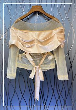 [수입] 마들렌 시스루라인 셔츠 30대여성쇼핑몰 결혼식하객패션 하객원피스 수입여성의류 원피스쇼핑몰 연예인원피스