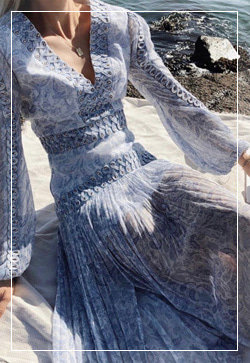 [수입] 페이즐리 스카이 원피스 30대여성쇼핑몰 결혼식하객패션 하객원피스 수입여성의류 원피스쇼핑몰 연예인원피스