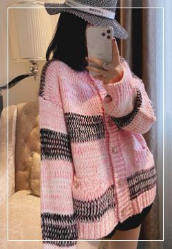 [수입] 핑크플로우 니트 탑 30대여성쇼핑몰 결혼식하객패션 하객원피스 수입여성의류 원피스쇼핑몰 연예인원피스