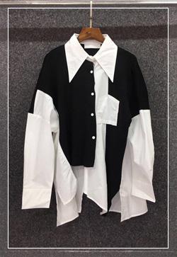 [수입] 랠리스 언발카라 셔츠 30대여성쇼핑몰 결혼식하객패션 하객원피스 수입여성의류 원피스쇼핑몰 연예인원피스