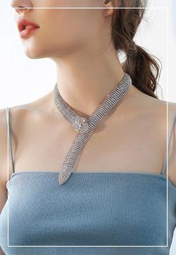 [수입] 스네이크 올큐빅 목걸이 악세사리쇼핑몰 체인목걸이 이어커프 명품귀걸이 명품스타일