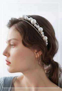 [수입] 크러쉬 진주 머리띠 악세사리쇼핑몰 체인목걸이 이어커프 명품귀걸이 명품스타일
