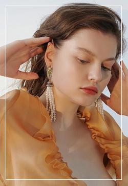 [수입] 진주 매너리즘 드롭 귀걸이 악세사리쇼핑몰 체인목걸이 이어커프 명품귀걸이 명품스타일