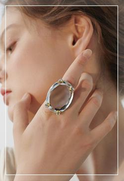 [수입] 빅 스페이스 보석 반지 악세사리쇼핑몰 체인목걸이 이어커프 명품귀걸이 명품스타일