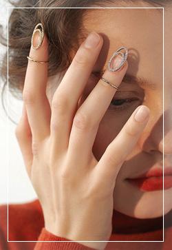 [수입] 큐빅클립 끝 반지 악세사리쇼핑몰 체인목걸이 이어커프 명품귀걸이 명품스타일