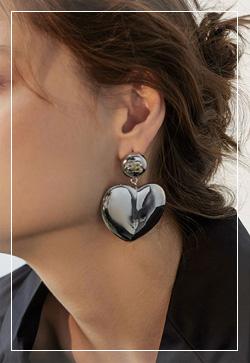 [수입] 비비 통통한 하트 귀걸이 악세사리쇼핑몰 체인목걸이 이어커프 명품귀걸이 명품스타일