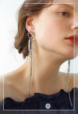 [수입] 켈리스트 링진주 귀걸이 악세사리쇼핑몰 체인목걸이 이어커프 명품귀걸이 명품스타일