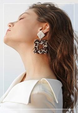 [수입] 멜로무드 와일드 귀걸이 악세사리쇼핑몰 체인목걸이 이어커프 명품귀걸이 명품스타일
