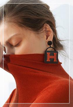 [수입] 에이치 로고 귀걸이 악세사리쇼핑몰 체인목걸이 이어커프 명품귀걸이 명품스타일