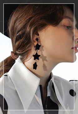 [수입] 체인과 하트별 귀걸이 악세사리쇼핑몰 체인목걸이 이어커프 명품귀걸이 명품스타일