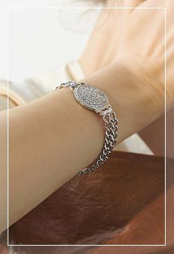 [수입] 체인 시계모양 팔찌 악세사리쇼핑몰 체인목걸이 이어커프 명품귀걸이 명품스타일