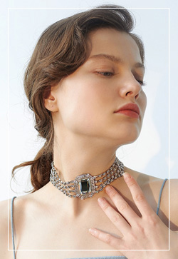 [수입] 볼드 큰보석 목걸이 악세사리쇼핑몰 체인목걸이 이어커프 명품귀걸이 명품스타일