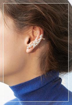 [수입] 진주모듈 이어커프 귀걸이 악세사리쇼핑몰 체인목걸이 이어커프 명품귀걸이 명품스타일
