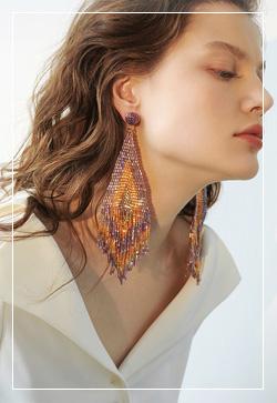 [수입] 메르시 공작새 귀걸이 악세사리쇼핑몰 체인목걸이 이어커프 명품귀걸이 명품스타일