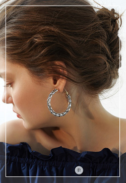 [수입] 엘리자벳 실버링 귀걸이 악세사리쇼핑몰 체인목걸이 이어커프 명품귀걸이 명품스타일