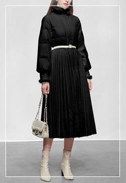 [수입] 크리미 메이플 블랙 코트 30대여성쇼핑몰 결혼식하객패션 하객원피스 수입여성의류 원피스쇼핑몰 연예인원피스