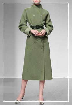 [수입] 로얄그린 롤업 코트 30대여성쇼핑몰 결혼식하객패션 하객원피스 수입여성의류 원피스쇼핑몰 연예인원피스