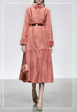 [수입] 펌프핑크 롱롱 스윙 코트 30대여성쇼핑몰 결혼식하객패션 하객원피스 수입여성의류 원피스쇼핑몰 연예인원피스