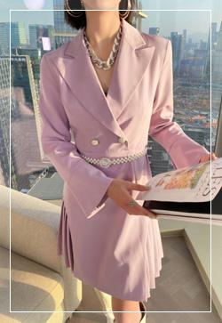 [수입] 캐롯 연보라 원피스 30대여성쇼핑몰 결혼식하객패션 하객원피스 수입여성의류 원피스쇼핑몰 연예인원피스