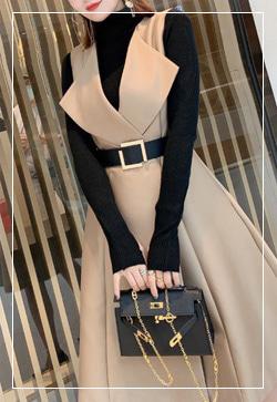 [수입] 에밀리 베이지 레어이드 원피스 30대여성쇼핑몰 결혼식하객패션 하객원피스 수입여성의류 원피스쇼핑몰 연예인원피스
