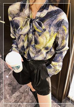 [수입] 데니스 트리플칼라 셔츠 30대여성쇼핑몰 결혼식하객패션 하객원피스 수입여성의류 원피스쇼핑몰 연예인원피스