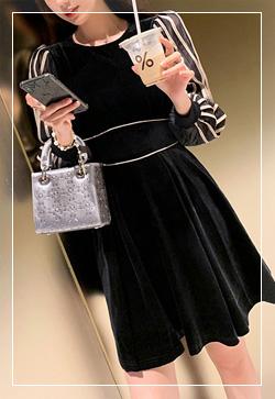 [수입] 엘리스 슬리브 포인트 원피스 30대여성쇼핑몰 결혼식하객패션 하객원피스 수입여성의류 원피스쇼핑몰 연예인원피스
