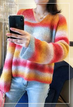 [수입] 소프트 모헤어 그라 니트 탑 30대여성쇼핑몰 결혼식하객패션 하객원피스 수입여성의류 원피스쇼핑몰 연예인원피스