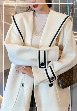 [수입] 켈리 머스크화이트 울 코트 30대여성쇼핑몰 결혼식하객패션 하객원피스 수입여성의류 원피스쇼핑몰 연예인원피스