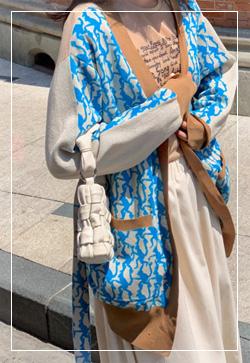 [수입] 모카블루 스트링 가디건 30대여성쇼핑몰 결혼식하객패션 하객원피스 수입여성의류 원피스쇼핑몰 연예인원피스