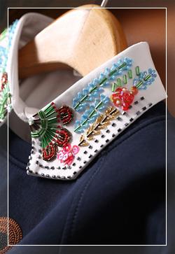 [수입] 카라만 알록비즈 셔츠 30대여성쇼핑몰 결혼식하객패션 하객원피스 수입여성의류 원피스쇼핑몰 연예인원피스