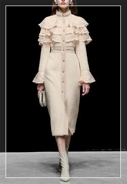 (수입)[즉시발송] 살구빛 캉캉 레이스 코트