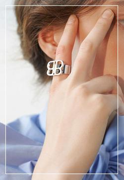 (수입) 비비 알파벳 반지