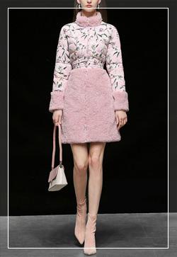(수입) 플라워 스탠드업 핑크 코트