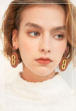 (수입) 골드 비 브라운 귀걸이