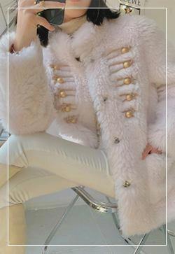 (수입) 밀키 핑크빛 로망스 코트