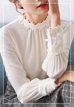 (수입) 플래쉬 꽃잎라운드 셔츠