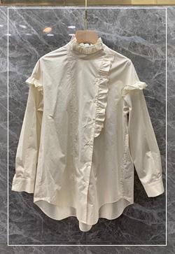(수입) 스프링 바닐라 프릴 셔츠