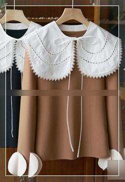 (수입) 이너프 꽃잎라인 블라우스 셔츠