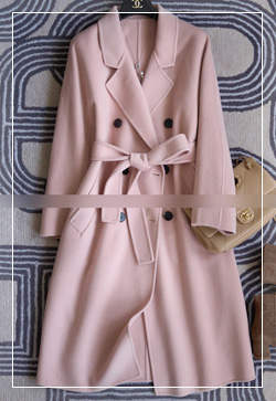 (수입) 트윙키 핑크스티치 울 코트