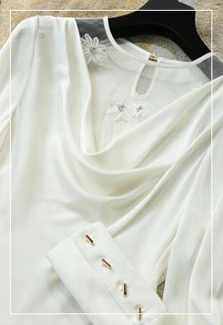 (수입) 쉐이프 스윗화이트 셔츠