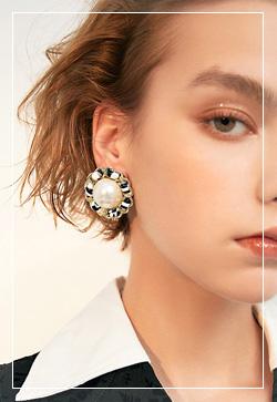 (수입) 엘사 로얄체인 귀걸이